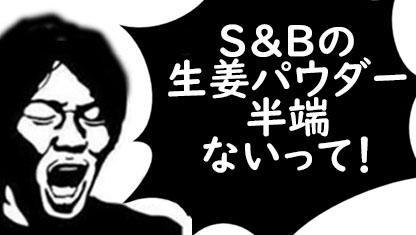 S&Bの乾燥生姜パウダーが半端ない!